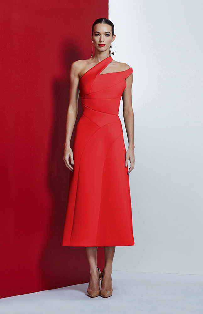 ASTA DRESS RED