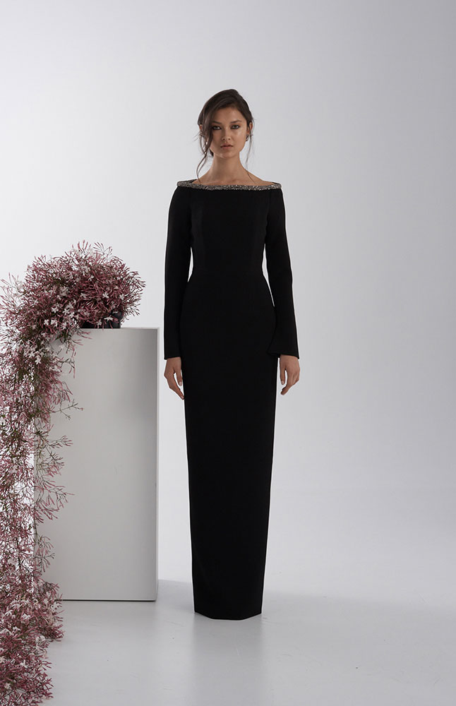 WINONA GOWN BLACK FRONT