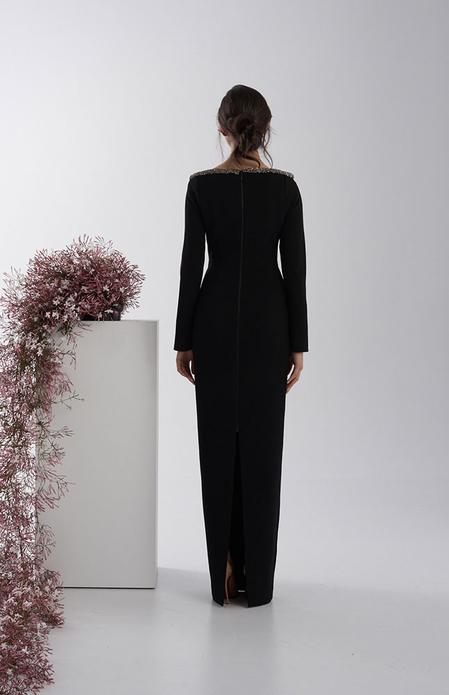 WINONA GOWN BLACK BACK